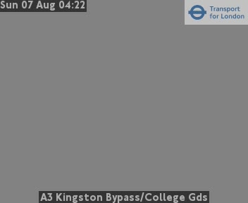 A3 Kingston Bypass / College Gardens traffic camera.