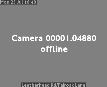 Leatherhead Road / Fairoak Lane traffic camera.