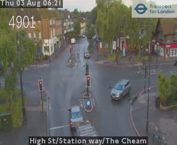 High Street / Station way / The Cheam CCTV | London Traffic