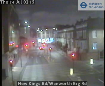 New Kings Road / Wanworth Bridge Road traffic camera.