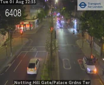 Notting Hill Gate / Palace Gardens Ter traffic camera.