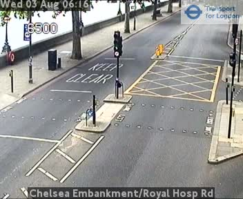 Chelsea Embankment / Royal Hosp Road traffic camera.