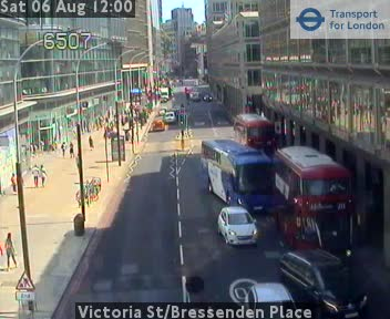 Victoria Street Bressenden Place Cctv London Traffic Cameras