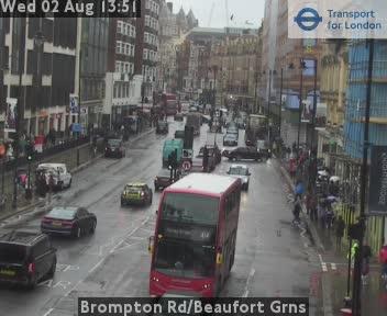 Brompton Road / Beaufort Gardens traffic camera.