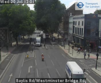 Baylis Road | Westminster Bridge Road traffic camera.
