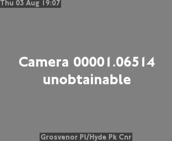 Grosvenor Place / Hyde Park Corner traffic camera.