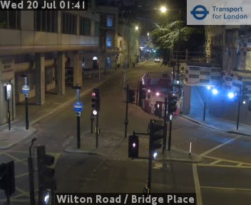 Wilton Road  /  Bridge Place traffic camera.
