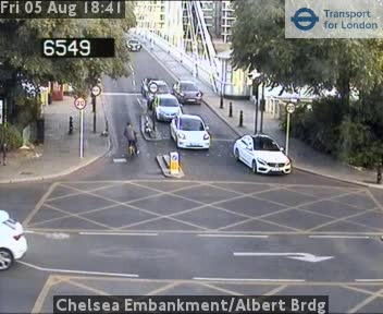 Chelsea Embankment Albert Bridge London Traffic Weather JAM Cam