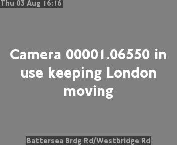 Battersea Bridge Road / Westbridge Road traffic camera.