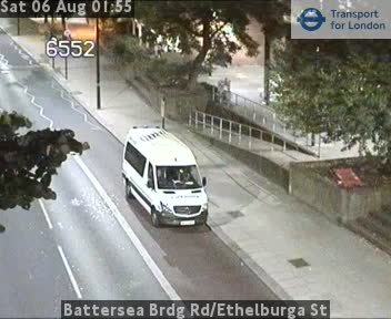 Battersea Bridge Road | Ethelburga Street traffic camera.