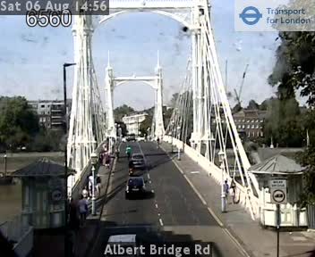 Albert Bridge Road London Traffic Web Cam Central London