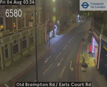 Old Brompton Road  /  Earls Court Road traffic camera.