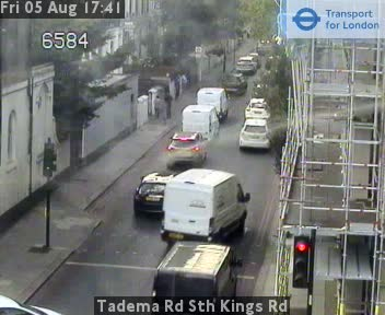 Tadema Road South Kings Road traffic camera.