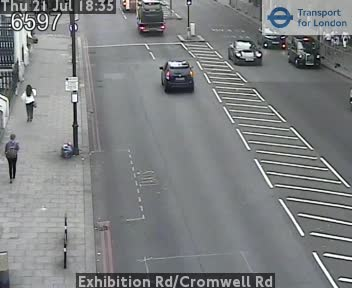 Exhibition Road / Cromwell Road traffic camera.