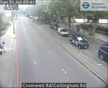 Cromwell Road / Collingham Road traffic camera.