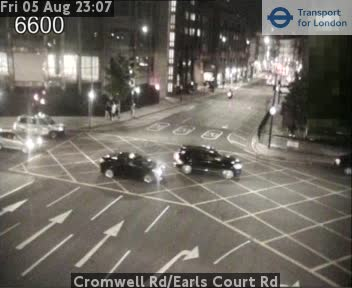 Cromwell Road Earls Court Road TFL Traffic Weather Cam London