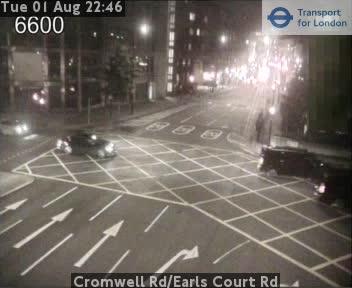 Cromwell Road Earls Court Road TFL Traffic Weather Cam London