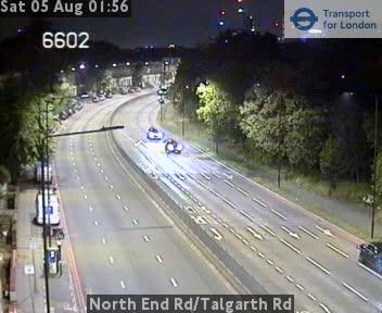 North End Road / Talgarth Road traffic camera.