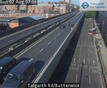 Talgarth Road / Butterwick traffic camera.