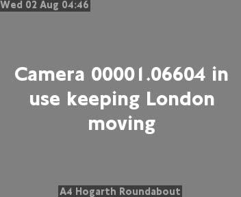 A4 Hogarth Roundabout traffic camera.
