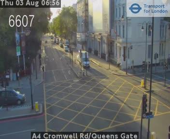 A4 Cromwell Road / Queens Gate traffic camera.