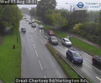 Great Chertsey Road / Hartington Road traffic camera.