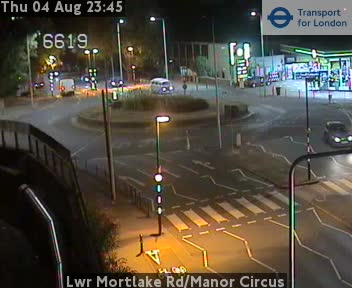 Lower Mortlake Road / Manor Circus traffic camera.