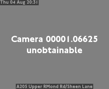 A205 Upper Richmond Road / Sheen Lane traffic camera.