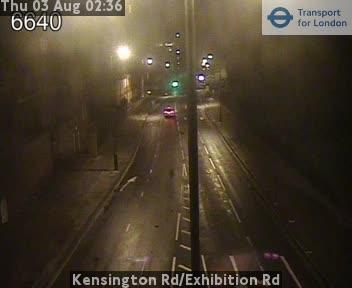 Kensington Road / Exhibition Road traffic camera.