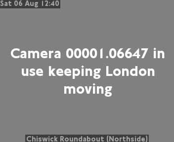 Chiswick Roundabout (Northside) traffic camera.