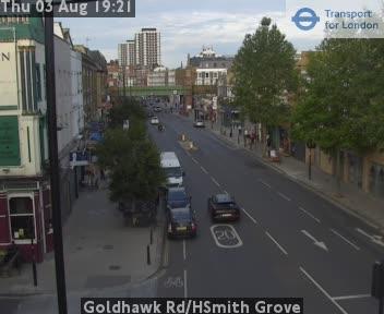 Goldhawk Road / HSmith Grove traffic camera.