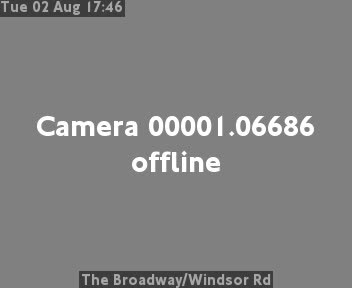 The Broadway / Windsor Road traffic camera.