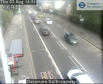 Delamare Road / Broadway traffic camera.