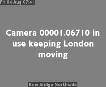Kew Bridge Northside traffic camera.