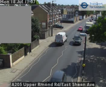 A205 Upper Richmond Road / East Sheen Avenue traffic camera.