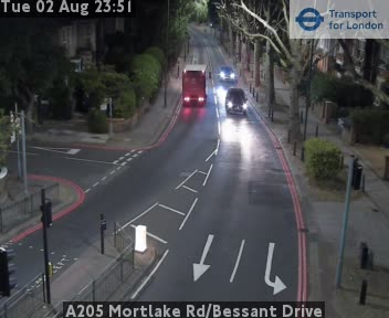 A205 Mortlake Road / Bessant Drive traffic camera.