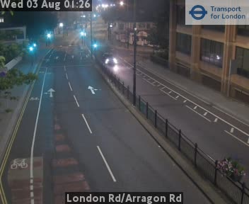 London Road / Arragon Road traffic camera.