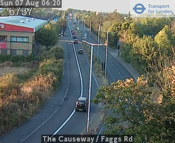The Causeway  /  Faggs Road traffic camera.