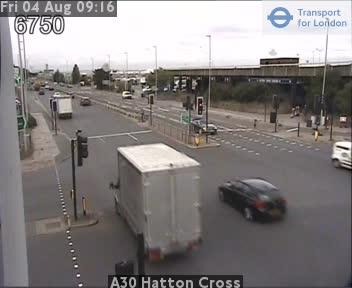 A30 Hatton Cross traffic camera.