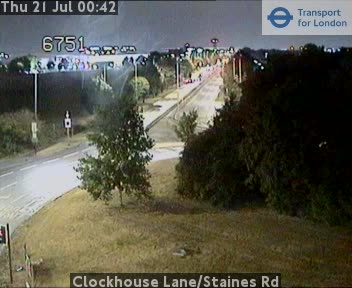 Clockhouse Lane / Staines Road traffic camera.