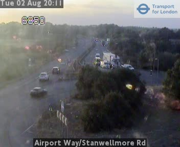 Airport Way / Stanwellmore Road traffic camera.