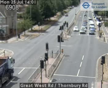 Great West Road / Thornbury Road CCTV | London Traffic Cameras