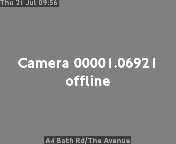 A4 Bath Road / The Avenue traffic camera.