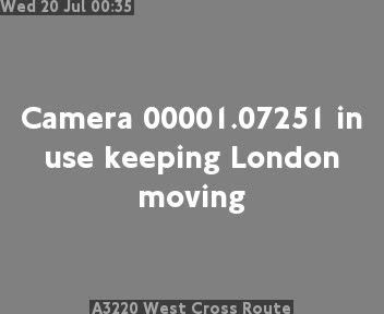 A3220 West Cross Route traffic camera.