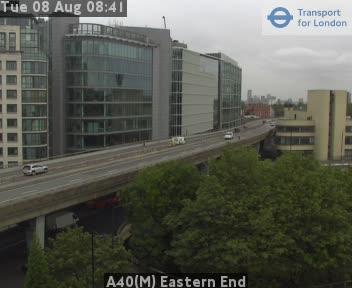 A40(M) Eastern End traffic camera.