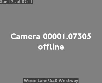 Wood Lane / A40 Westway traffic camera.