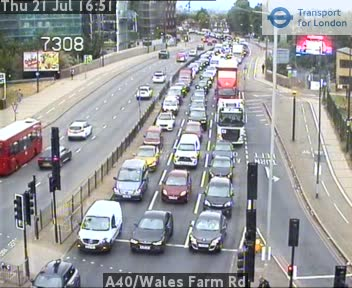 A40 / Wales Farm Road traffic camera.