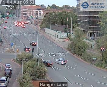 Hanger Lane traffic camera.