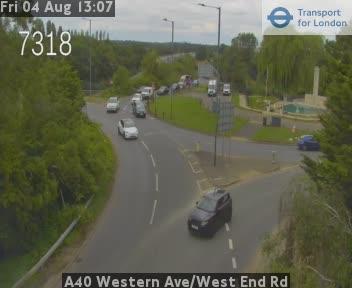 A40 Western Avenue / West End Road traffic camera.