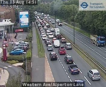 Western Avenue / Alperton Lane traffic camera.